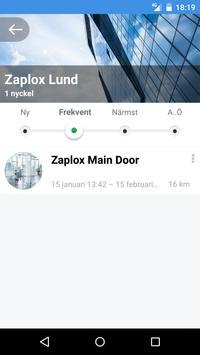 Zaplox Mobile Keys screenshot 5