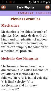 Basic Physics imagem de tela 1