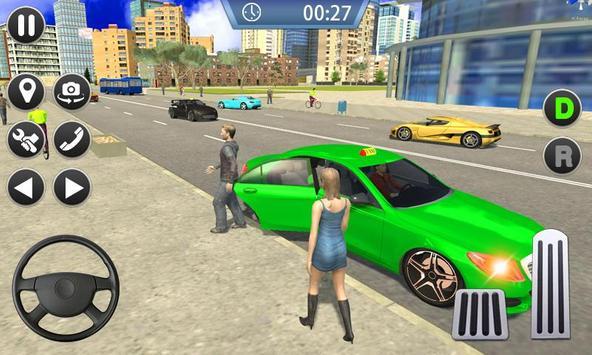 Taxi Sim 2019 - City Taxi Driver Simulator 3D poster