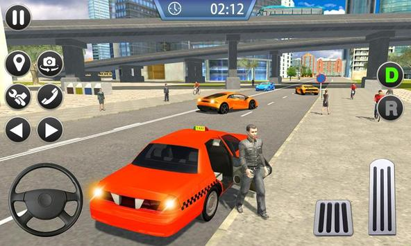 Taxi Sim 2019 - City Taxi Driver Simulator 3D screenshot 2