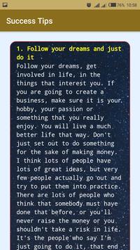 Success Tips screenshot 1