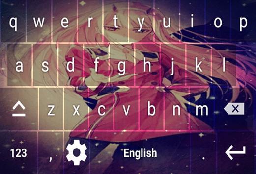 Keyboard zero two darling screenshot 7