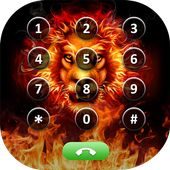 Fire Lion Photo Phone Dialer icon