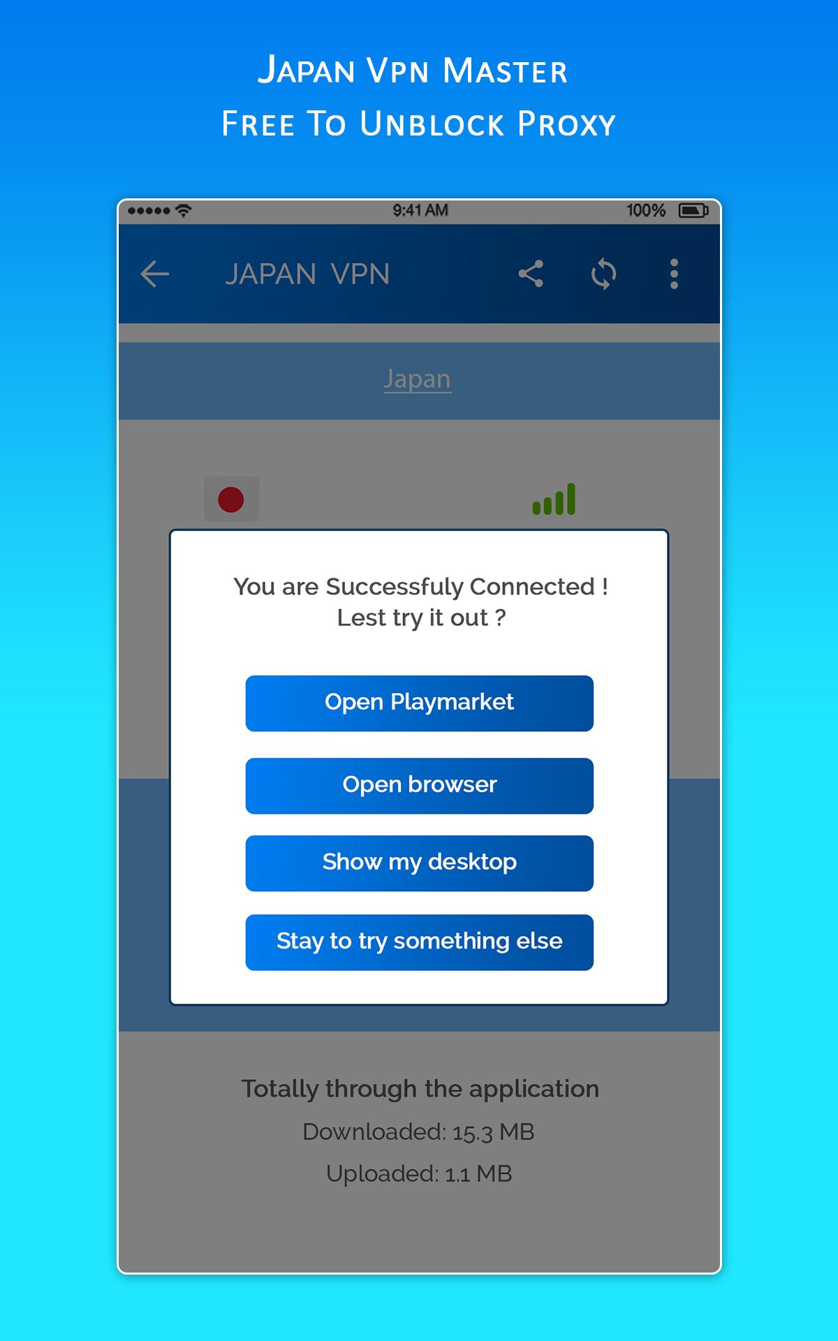 JAPAN VPN MASTER - Free To Unblock Proxy for Android - APK