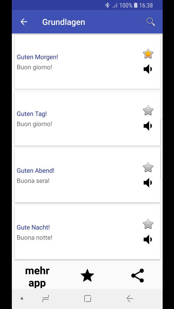 Italienisch Sprachführer For Android Apk Download