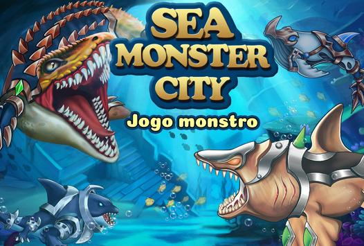 Sea Monster City Cartaz