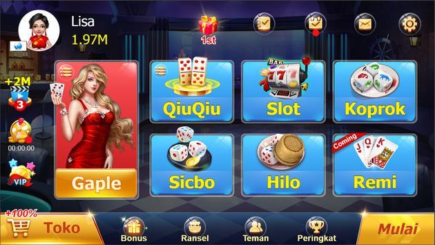Domino Rummy Poker Slot Sicbo Online card games постер