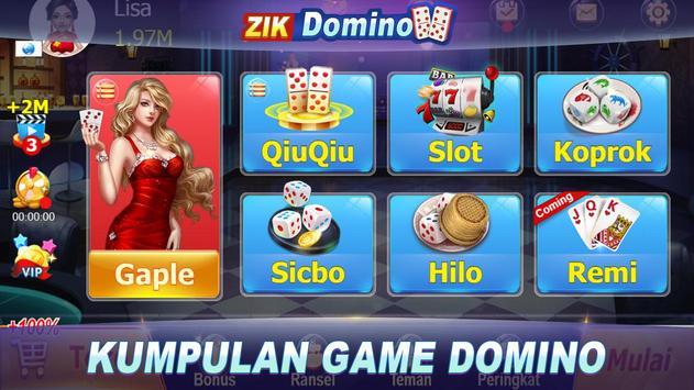 Gaple Domino Online (Koin GRATIS) Zik Games poster