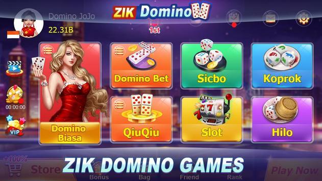 Domino QQ/99 Poker QiuQiu KiuKiu Sibo Slot Hilo постер