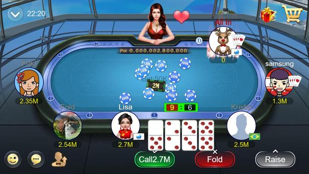 Domino QQ/99 Poker QiuQiu KiuKiu Sibo Slot Hilo screenshot 2