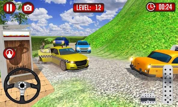 Real Taxi Uphill Climb - Taxi Driving Simulator poster