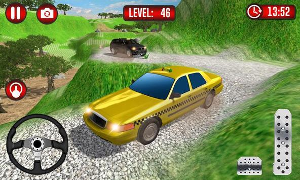 Real Taxi Uphill Climb - Taxi Driving Simulator screenshot 1