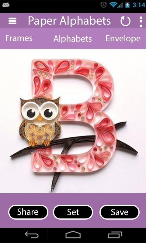Quilling Paper Alphabets – Stylish Alphabet Design for Android - APK