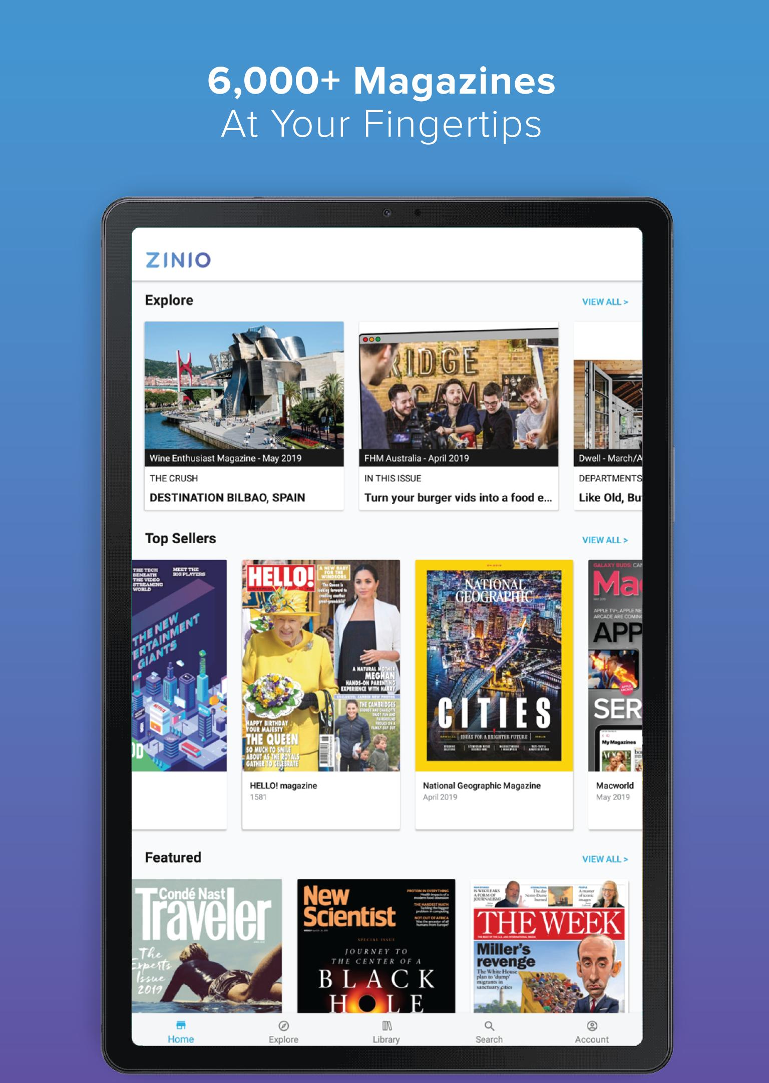 ZINIO - Magazine Newsstand for Android - APK Download