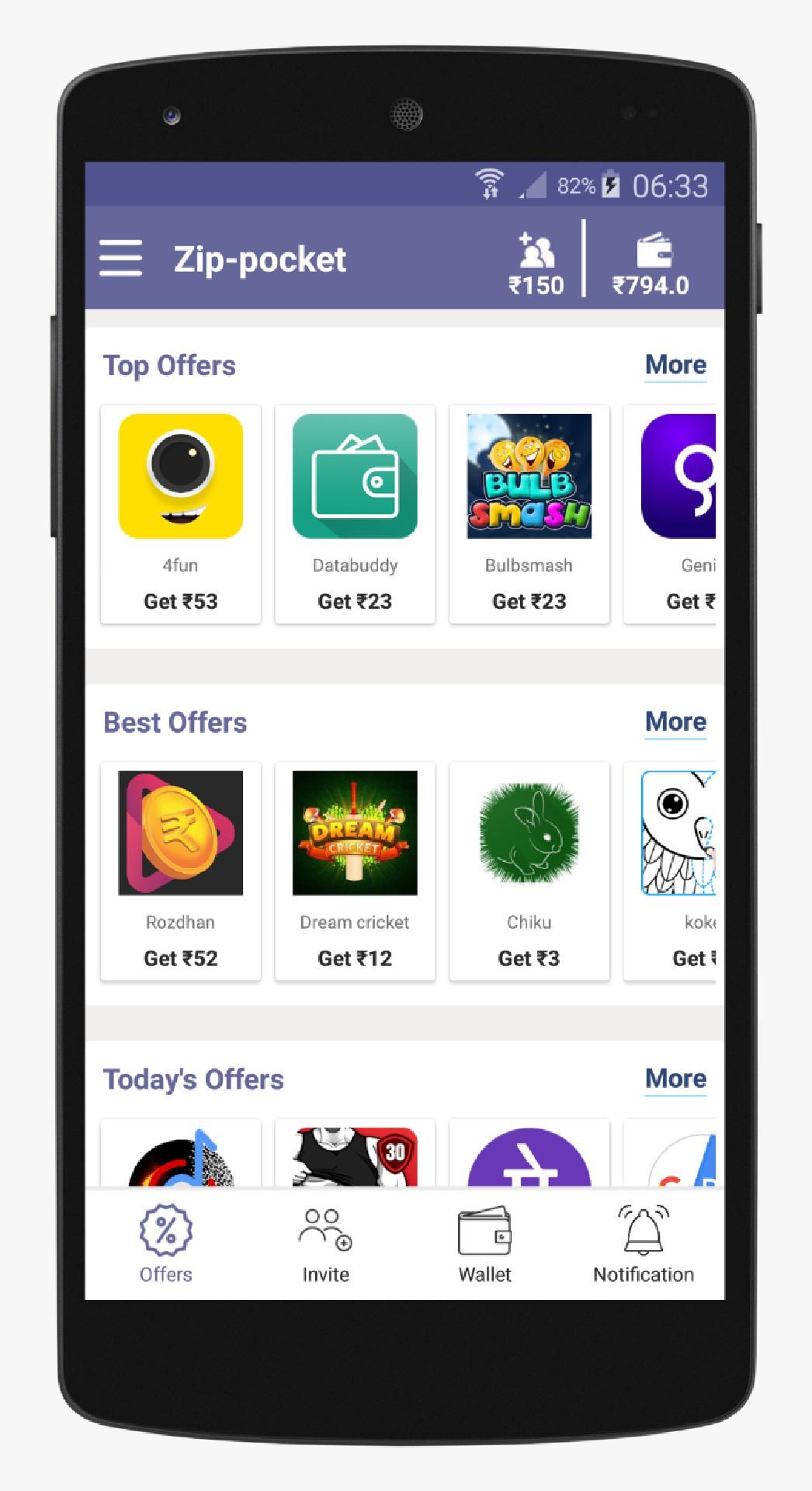 Make money online, Money earning app - Zip-pocket poster