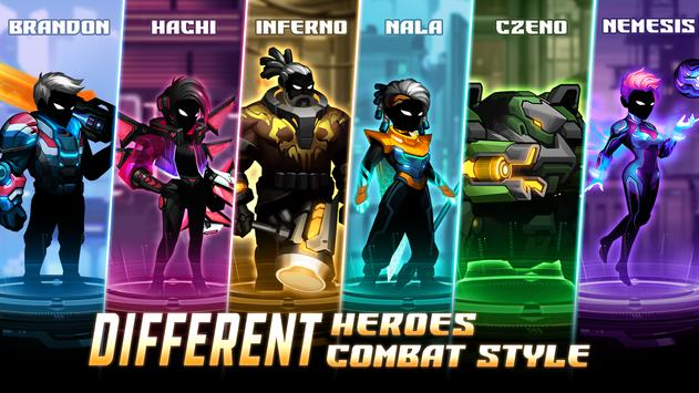 Cyber Fighters: League of Cyberpunk Stickman 2077 screenshot 17