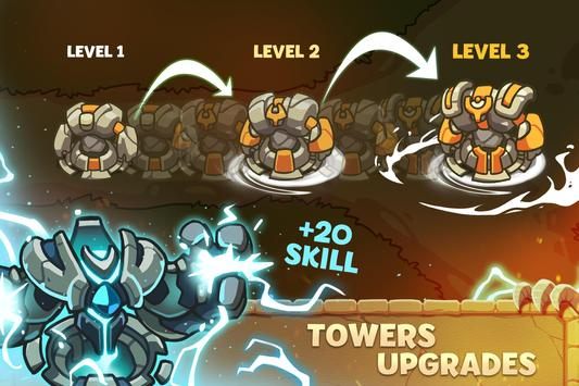 Empire Warriors: Tower Defense TD Strategy Games स्क्रीनशॉट 9