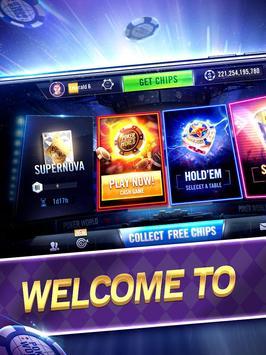 Poker World Mega Billions poster