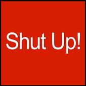 Shut Up Button Free icon