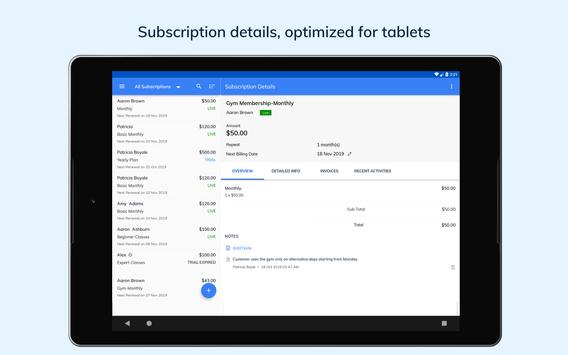 Subscription Management App - Zoho स्क्रीनशॉट 13