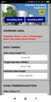 Kalkulator Sounding (Tangki Darat) screenshot 3