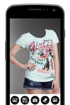 Designed T-Shirt for Woman Photo Maker 截圖 1