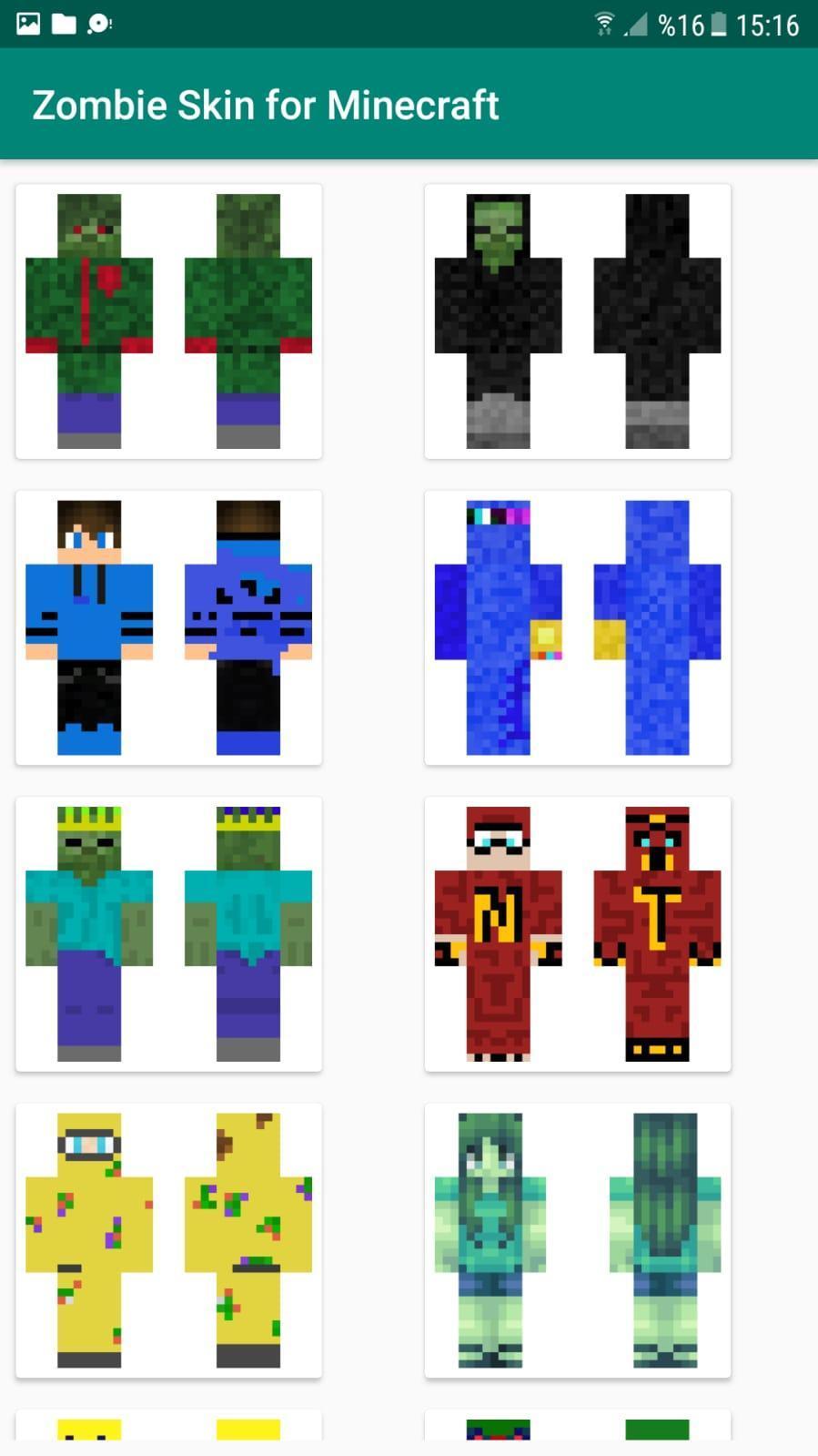 Zombie Skin for Minecraft para Android - APK Baixar
