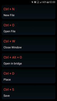 Design apps shortcut keys screenshot 2
