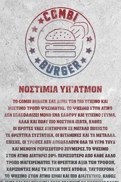 Combi burger poster