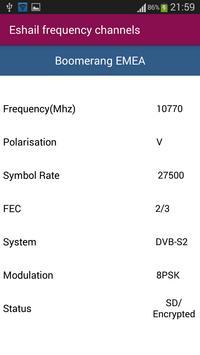 Es'hailSat Frequency Channels screenshot 2