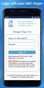 UNC Check-In poster