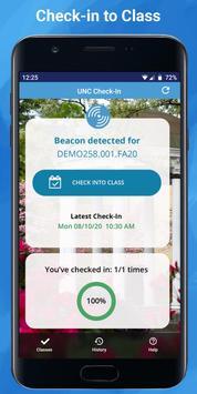 UNC Check-In screenshot 2