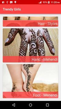 Hair styles,Nail Paint,Mehendi screenshot 1