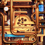 Cool Wallpapers and Keyboard - Steampunk Pipes APK
