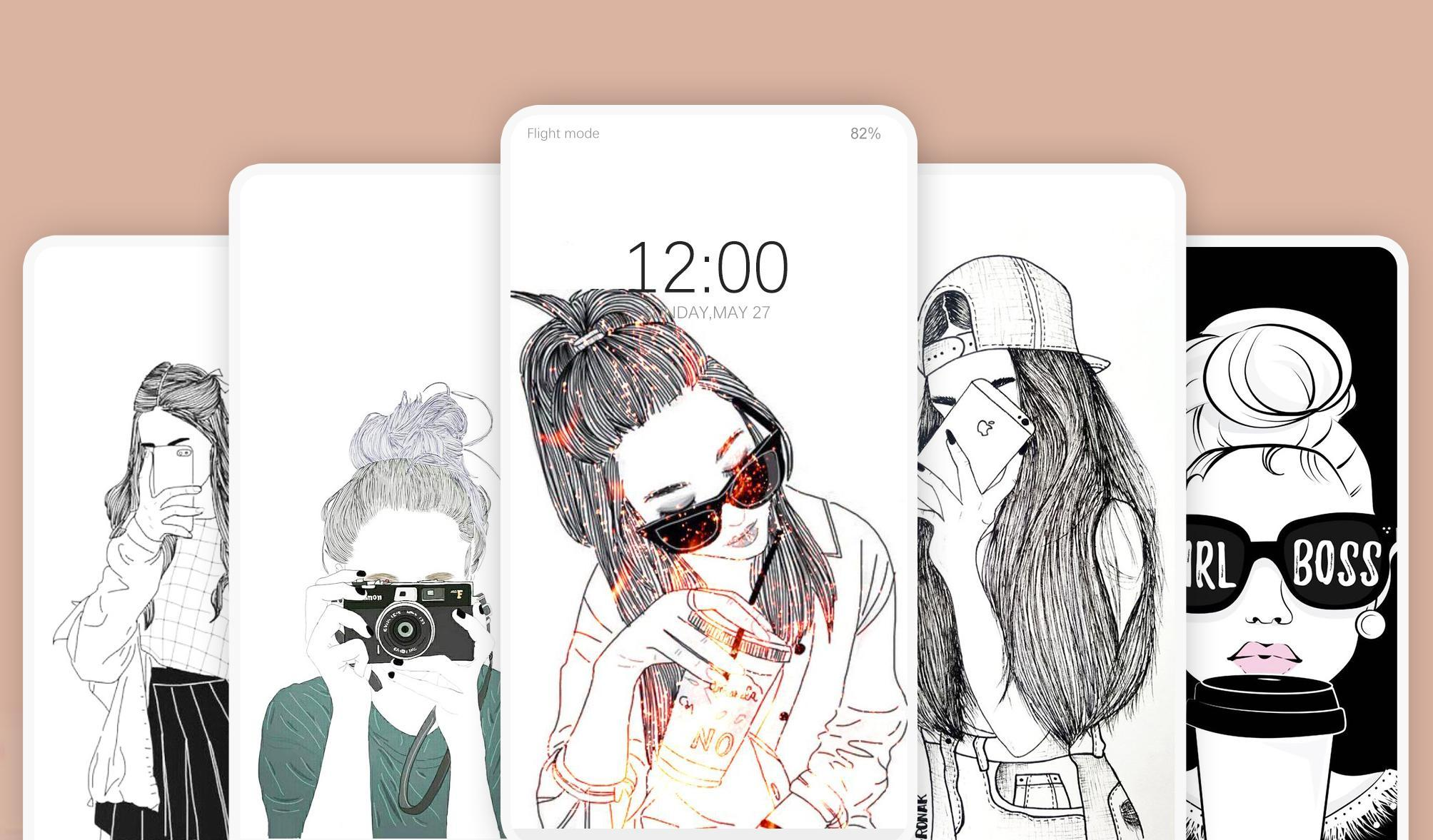 Cool Girl Wallpaper Aesthetic Background For Android Apk Download