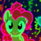 Cute Neon Pony Wallpapers icon