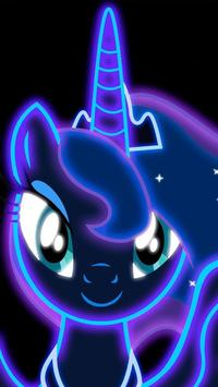 Cute Neon Pony Wallpapers screenshot 1