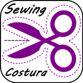 Easy sewing step by step. Basic sewing icon