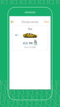 Ici Taxi: cabs in Montreal, Canada. Book a ride screenshot 1