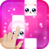 Pink Cat Piano - Magic Girly Piano Tiles Cat on pc