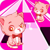 perfect pink tiles:cat piano-magic kids-music song icône