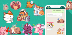 Kittenz: Cat Stickers For whatsapp - WAStickerApps
