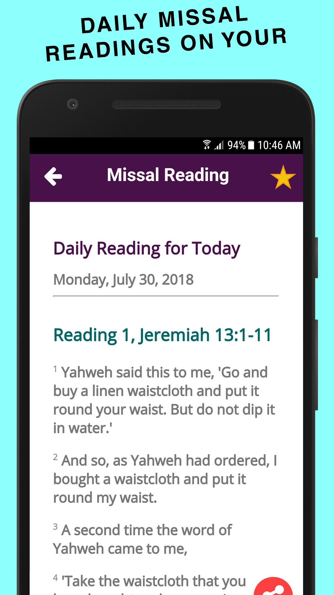 Catholic Daily Missal Readings (Free App) for Android - APK