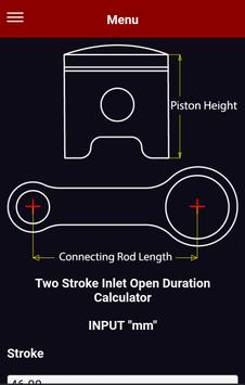 Two 2 Stroke Inlet Port Open Duration Calculator screenshot 1