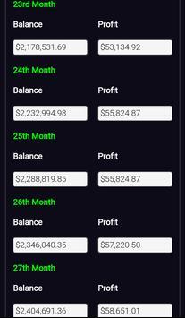 Forex Plan Compounding Interest Calculator PRO screenshot 5