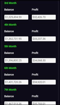 Forex Plan Compounding Interest Calculator PRO screenshot 1