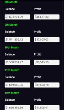 Forex Plan Compounding Interest Calculator PRO screenshot 2