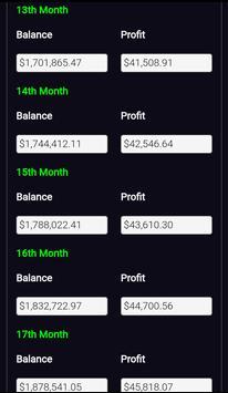 Forex Plan Compounding Interest Calculator PRO screenshot 3