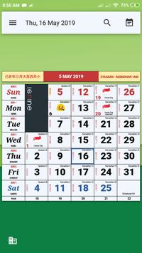 Monthly Calendar & Holiday poster