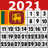 2021 Sinhala Calendar-icoon